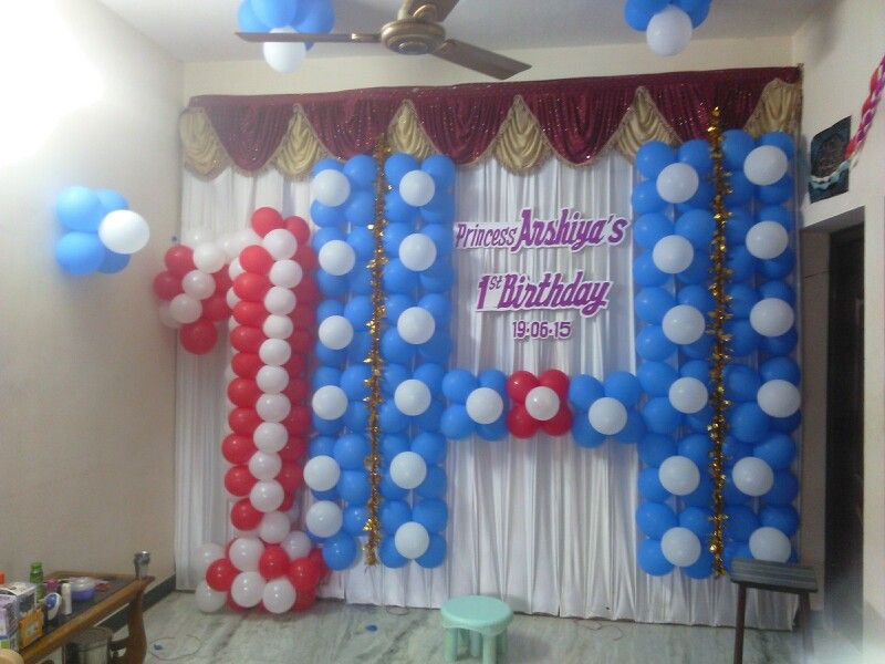 Birth day balloon decorations in trichy tamilnadu indiawedding