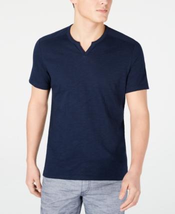 I-N-C Mens Ribbed Basic T-Shirt