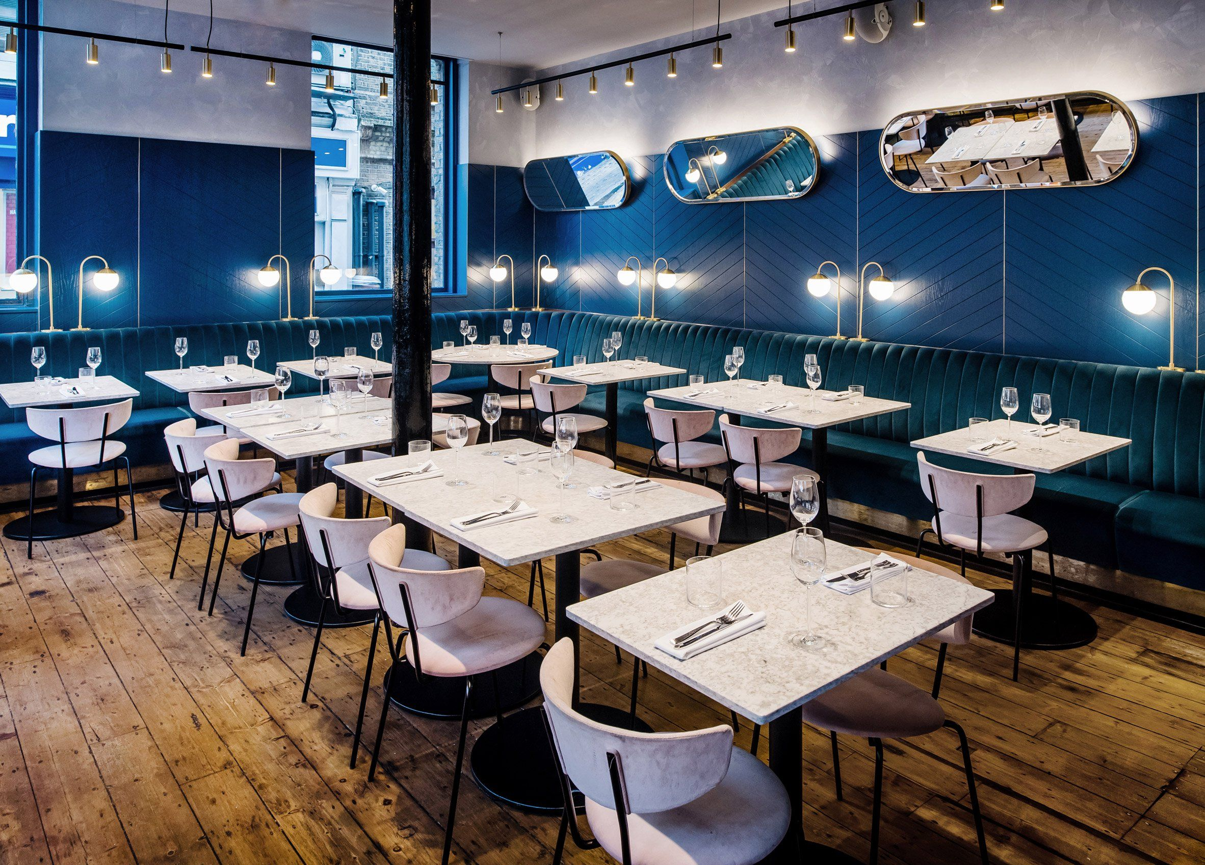 Biasol Converts Listed Warehouse Into Restaurant And Cocktail Bar In East London With Images Restaurant Interior Design Restaurant Interior