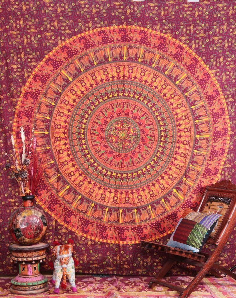 Amazoncom Entangled Elephant Mandala Tapestry Camel