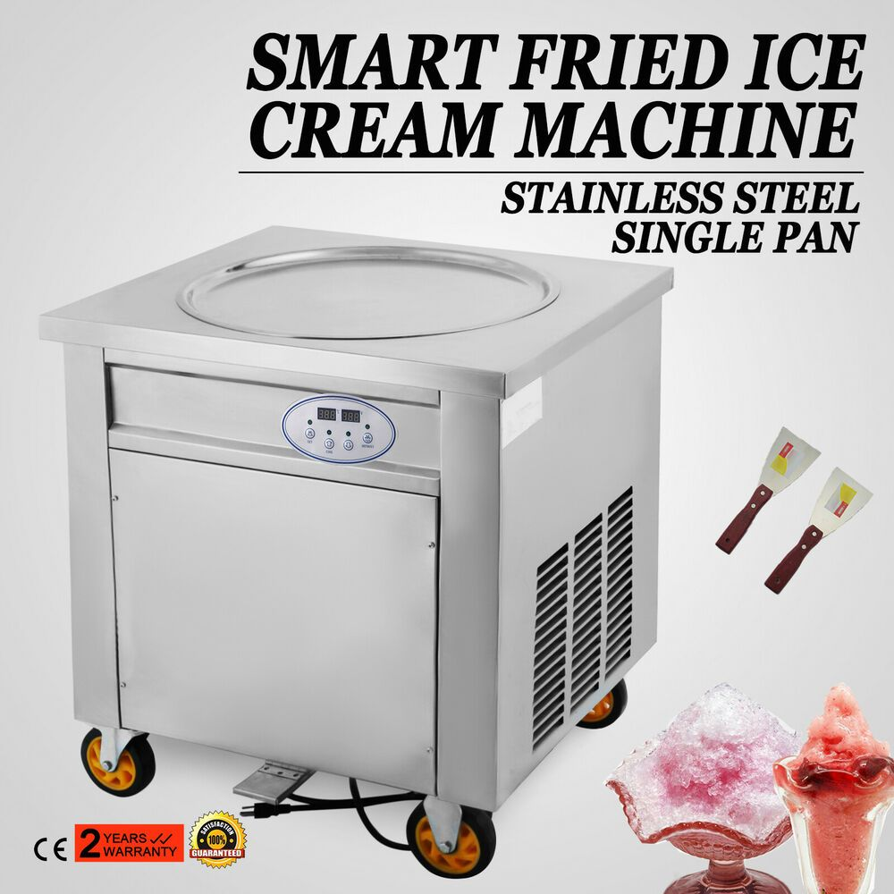 Ebay Sponsored New Fried Ice Cream Machine Single Flat Pan