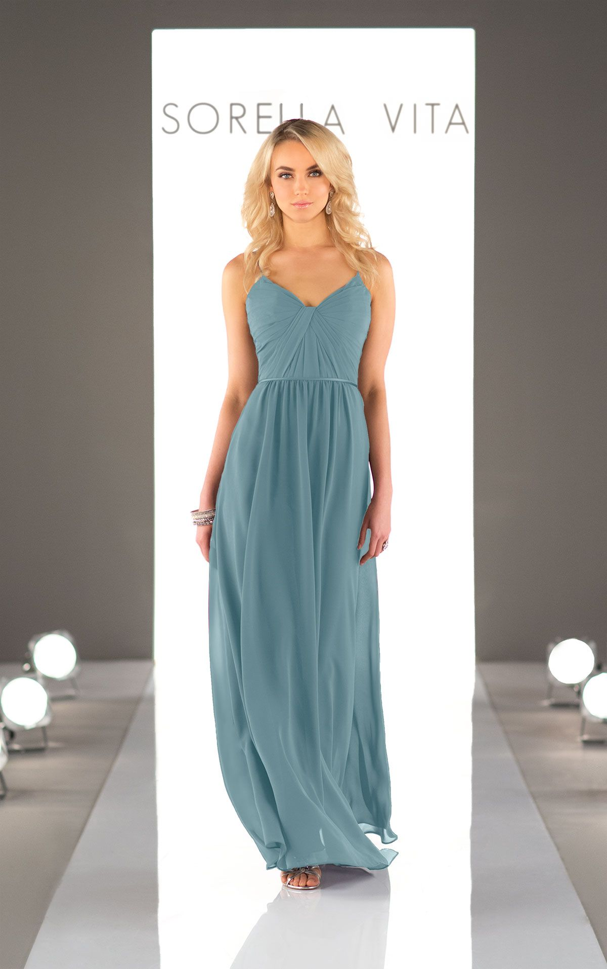 Chiffon Floor Length Bridesmaid Dress | Chiffon bridesmaid dresses ...