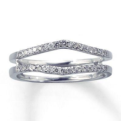 Diamond Enhancer Ring 1/4 ct tw Round-cut 14K White Gold