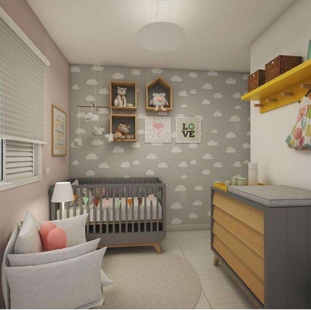 Pin de Murillo E Kelly en Baby   Pinterest   Cuarto bebe, Bebe y Nubes