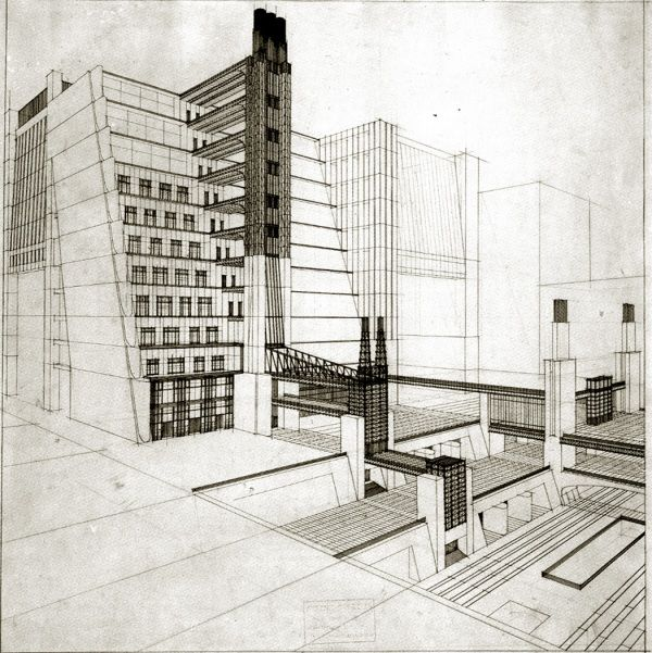 Futurist Architecture Drawings Of Antonio Santelia Futurism