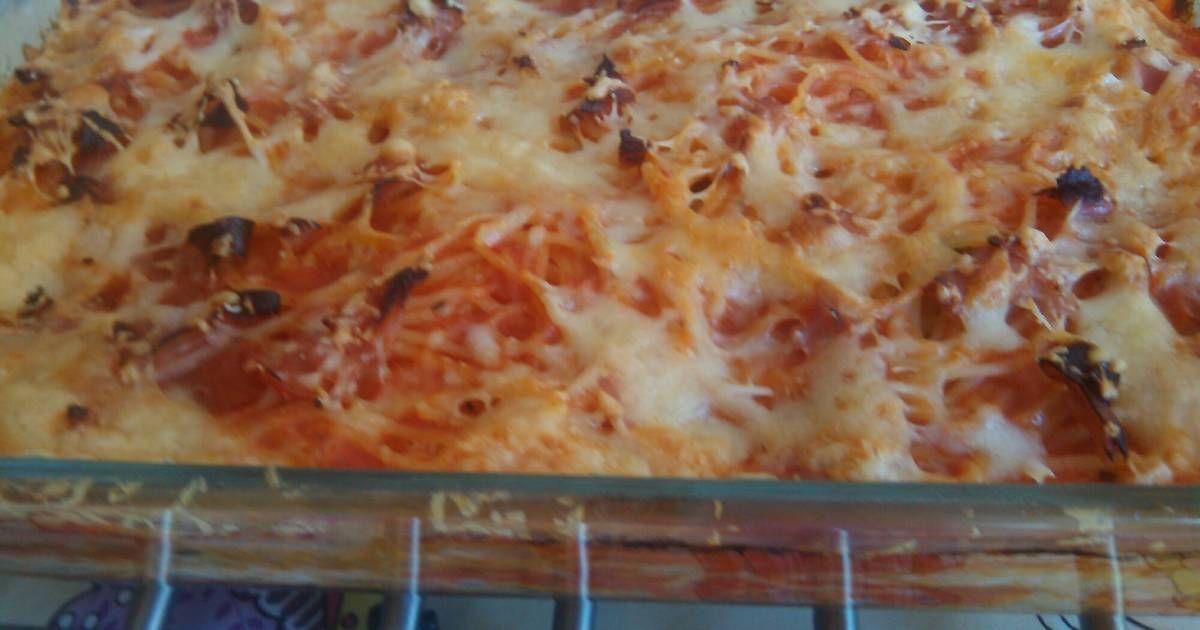 Fabulosa receta para Spaguetti al horno. Esta recetita es obra de mi marido, y…
