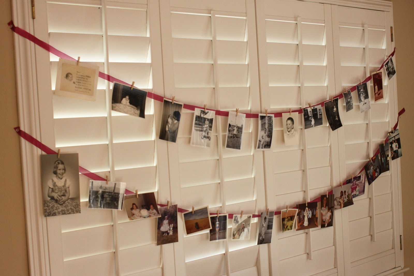 Th Birthday Party Decoration Ideas For Men Decorations Just Made Bunting Of Photos From My Mom