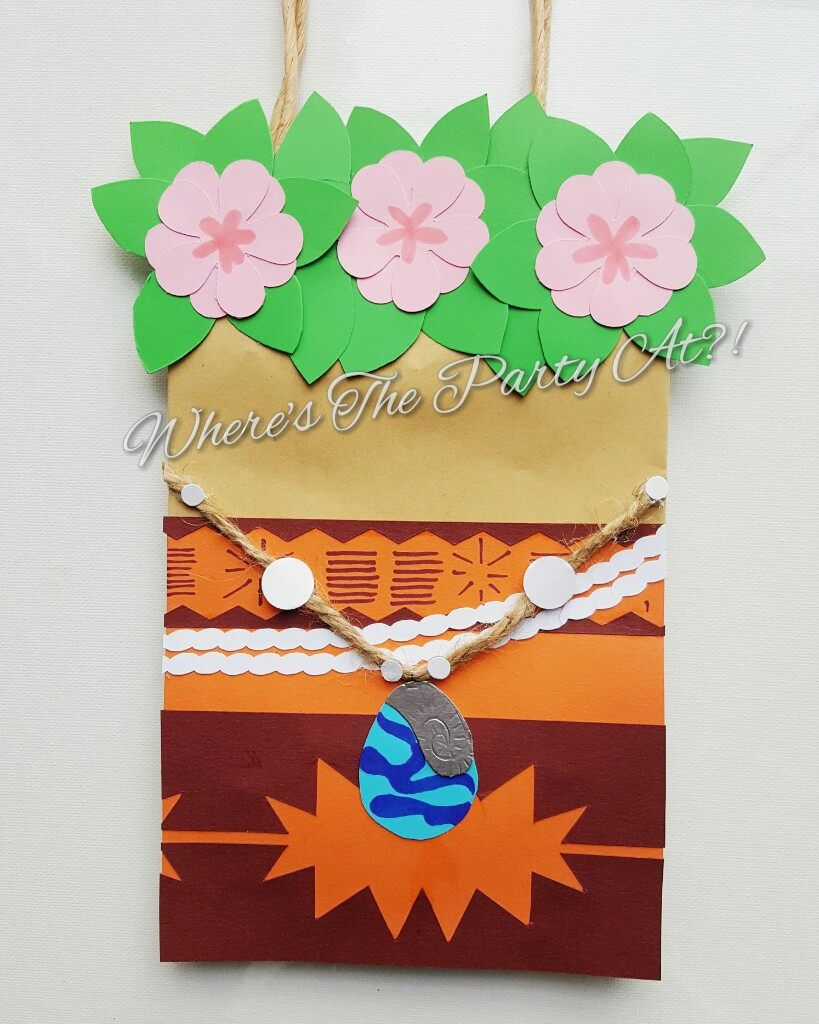 Disney Moana Inspired Favor Bags Goodie By WTPAPartyDesigns On Etsy Party