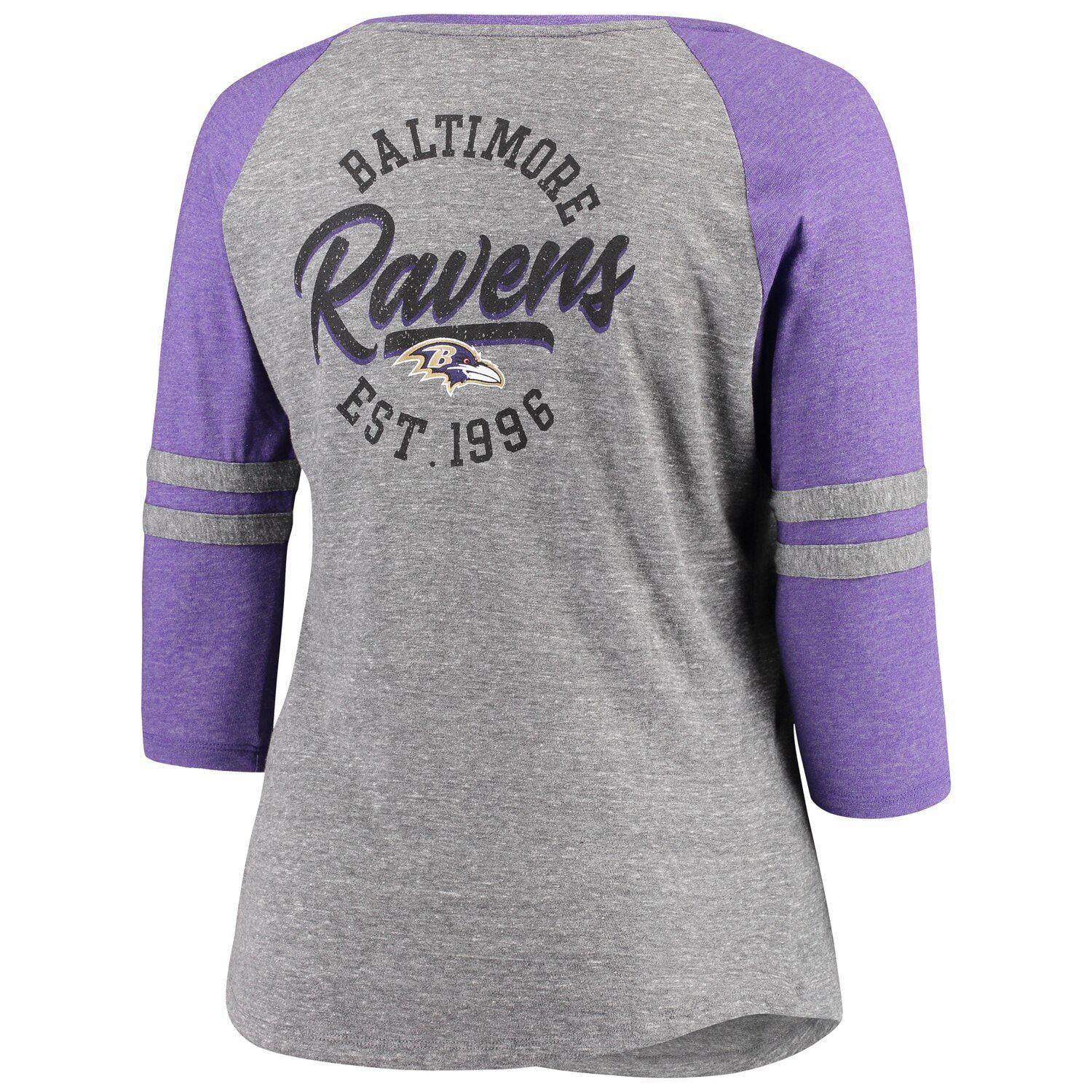 plus size womens ravens shirts