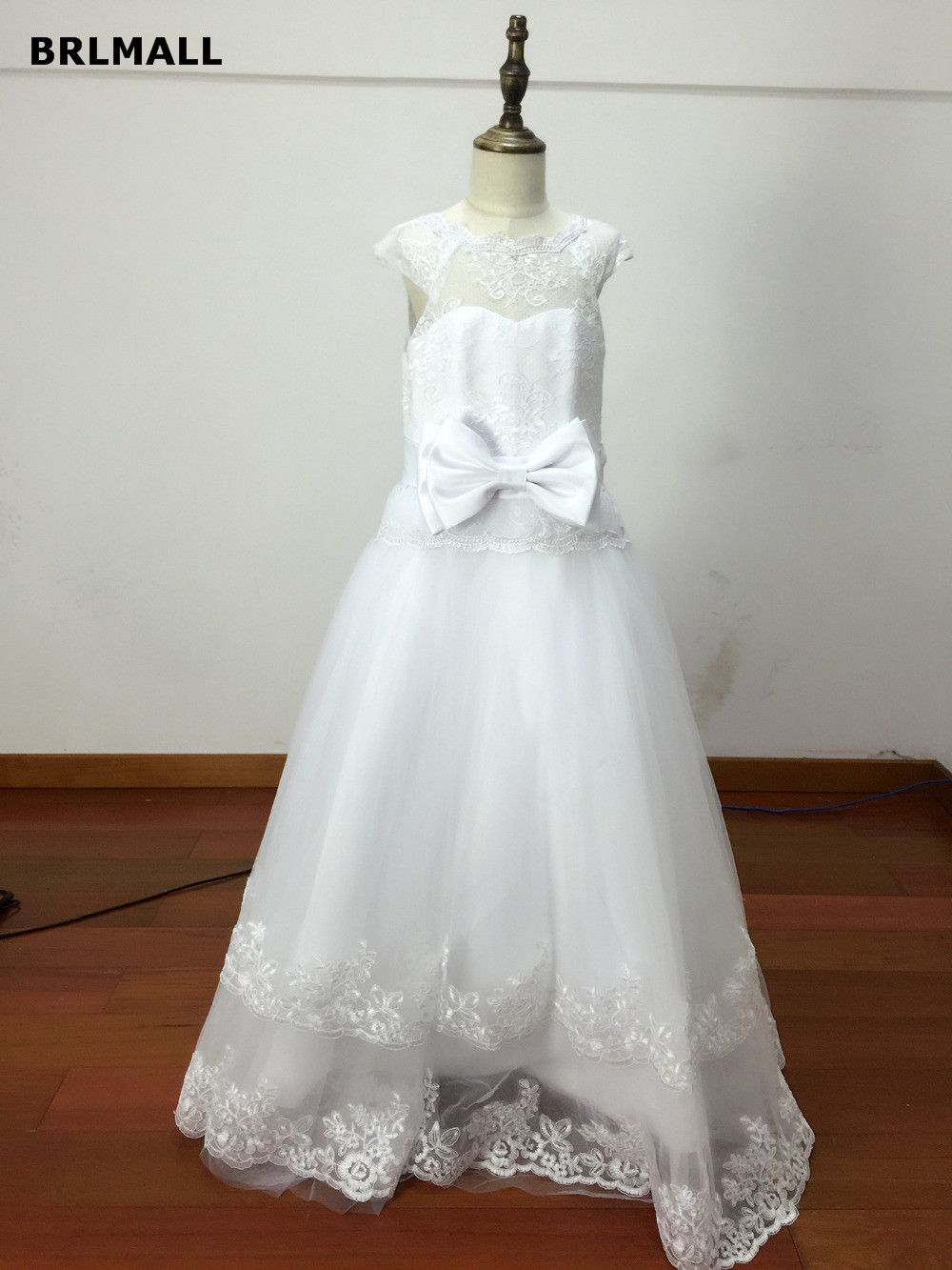 Girls wedding dress  Click to Buy ucuc  New Lovely White Flower Girl Dresses Puffy