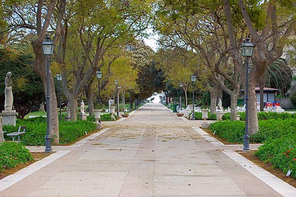 Viale alberato all'interno dei Giardini Pubblici di Viale