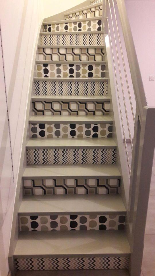Escaliers Decores Papier Peint Sur Contre Marche Escalier