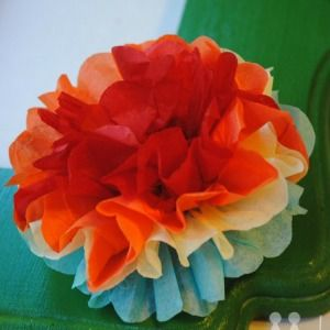Tutorial mexican tissue flowers fit for a fiesta fiestas how to make mexican tissue flowers its so easy if you can fold mightylinksfo