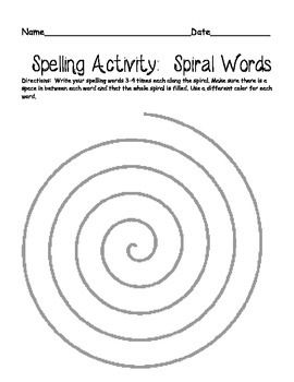 This spelling packet includes 4 different activities for