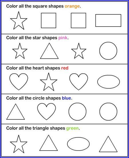 color pictures shapes worksheet esl pinterest shapes worksheets worksheets and. Black Bedroom Furniture Sets. Home Design Ideas