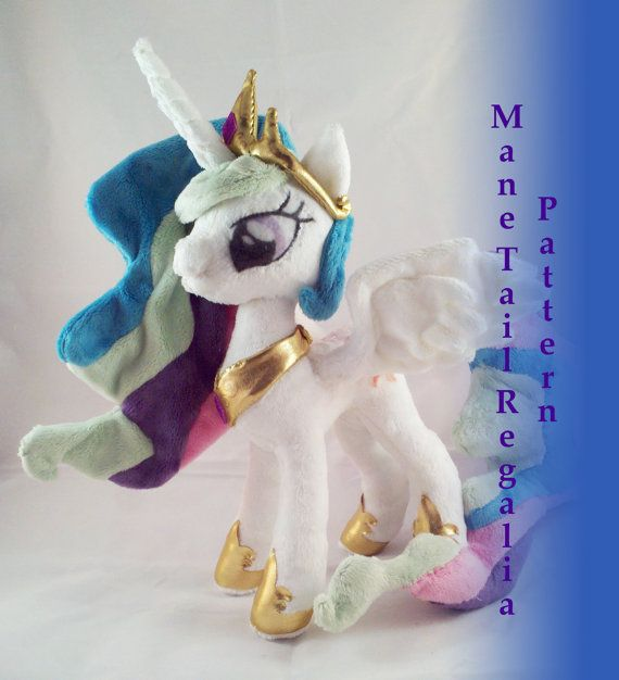 Alicorn Princess Multi Color Mane And Tail Sewing Pattern Pdf
