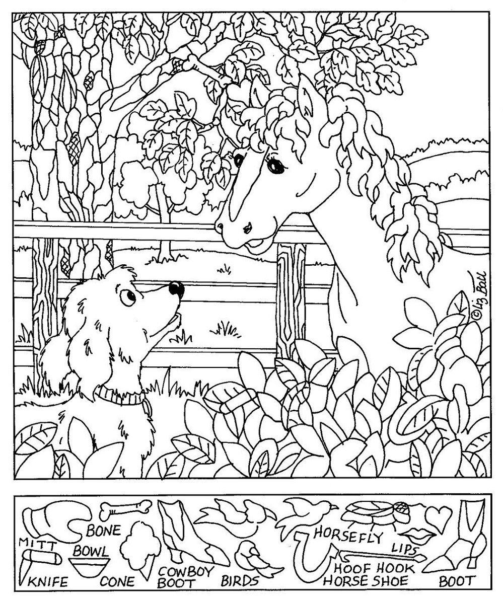 Hidden Picture Worksheet Horse Horses Hidden Pictures