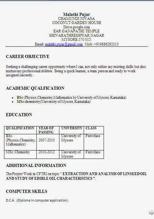 Creating A Resume In Word Create A Resume Curriculum Vitae Resume Chemistry Education