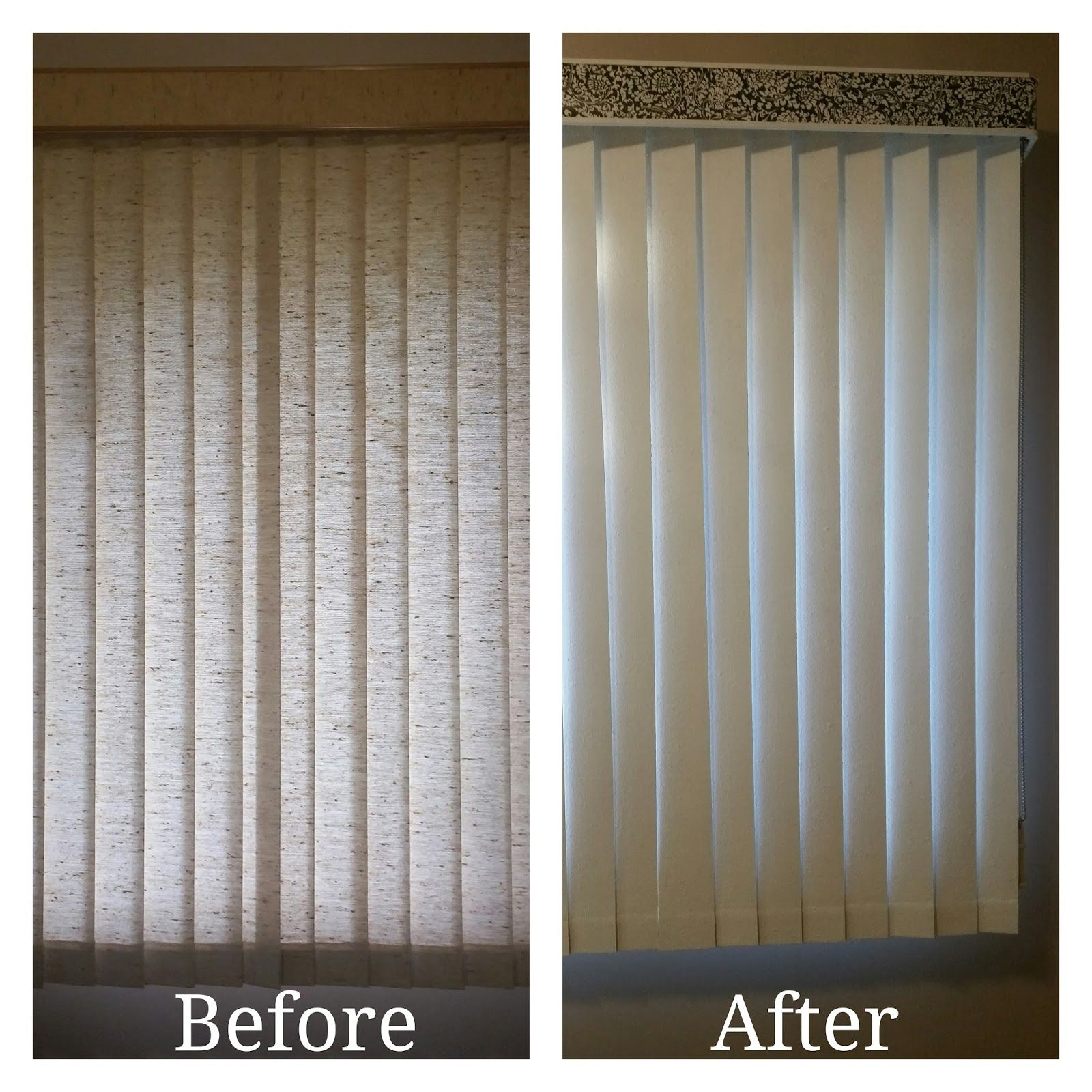 DIY How To Paint Fabric Vertical Blinds