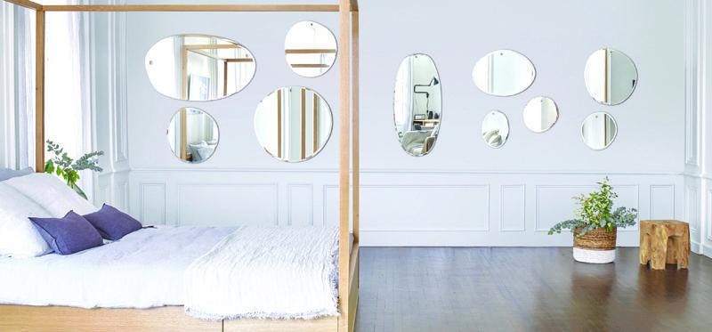 miroirs déco aux formes aléatoires - M nuance Interior designs