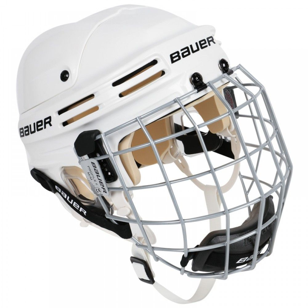 Bauer 4500 Hockey Helmet Combo W Profile Ii Facemask Size Large Color Black Hockey Helmet Football Helmets Helmet