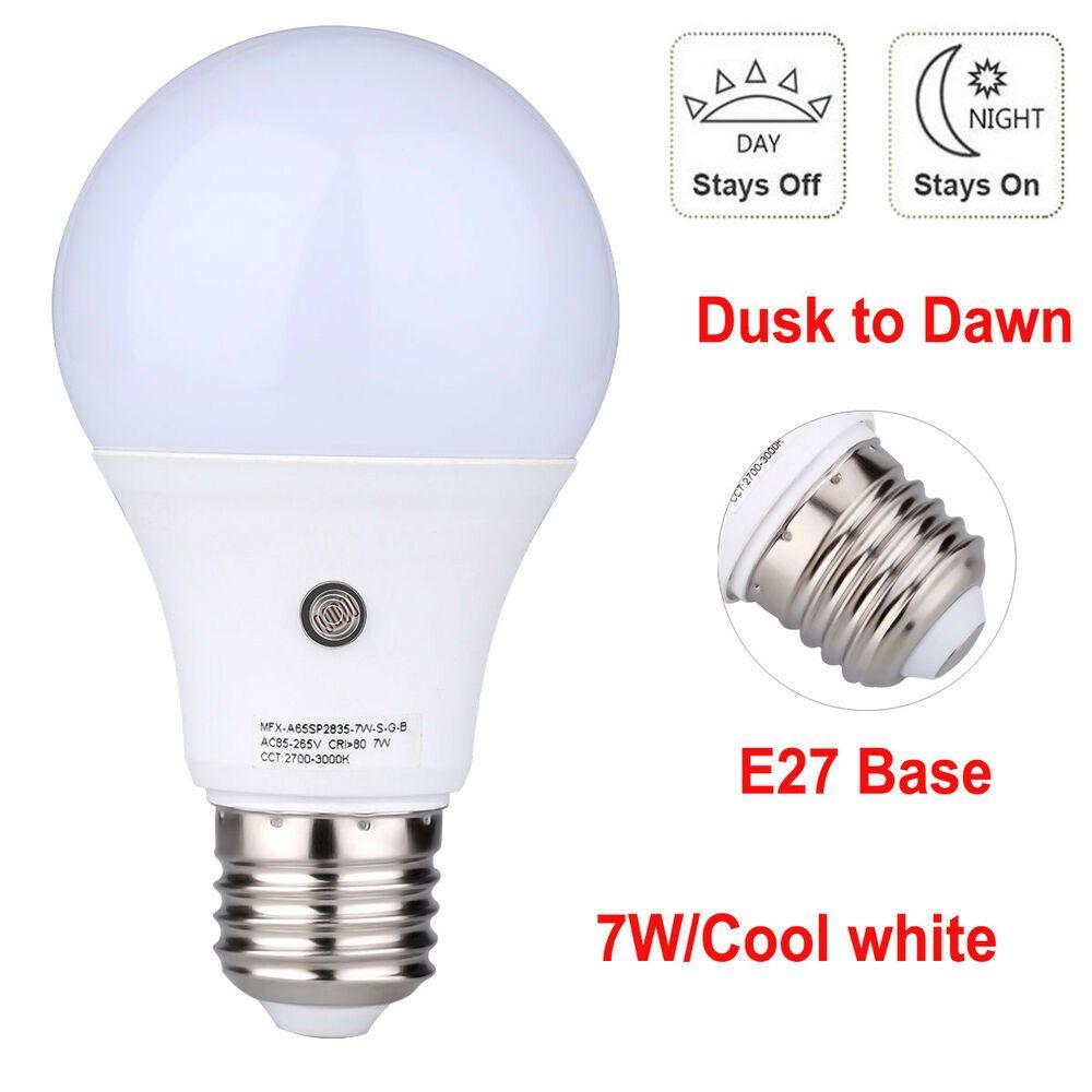 7w Auto Light Sensor Led Dusk To Dawn Light Bulb E27 Smart Lamp Energy Saving Affilink Lamps Lampshades Lampshadeideasapartmenttherapy Lampshadeorigami L