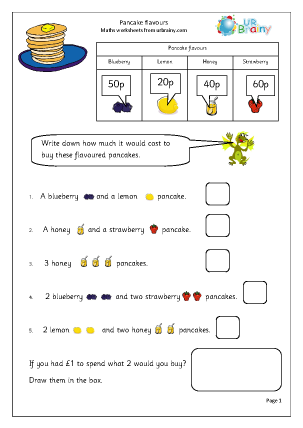 Maths Worksheets Further Resources Special Occasions Pancake