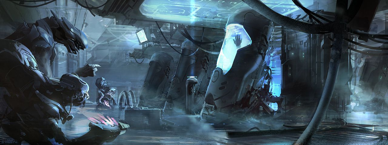 An early previz piece from 2010. Halo 4 concept art. Microsoft/343Industries