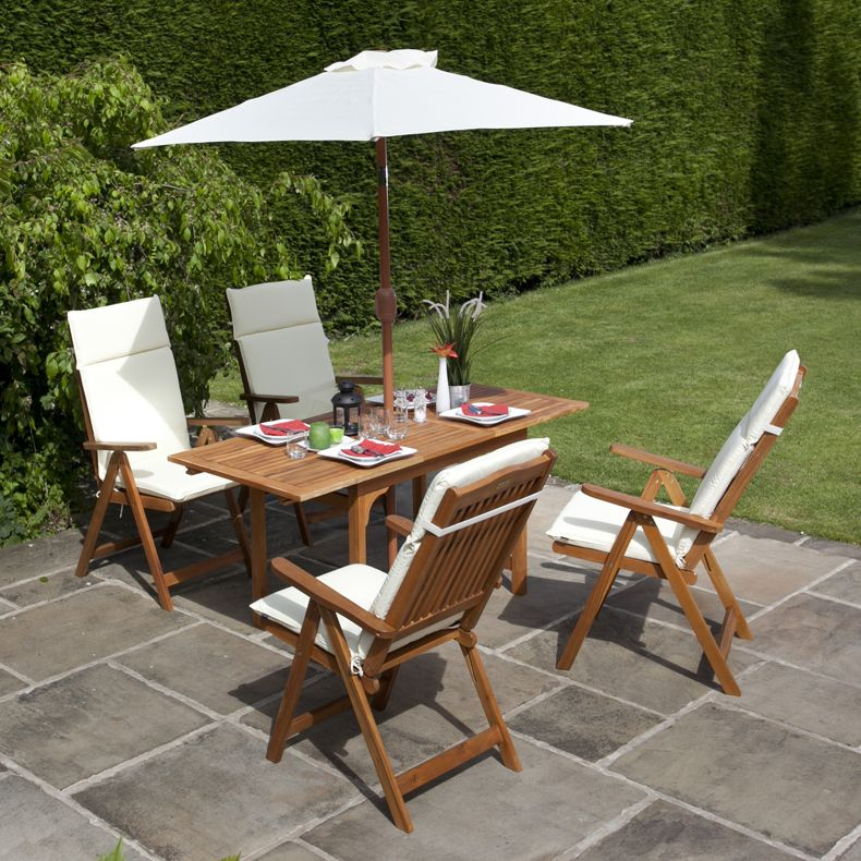 BillyOh 4 Seater Windsor Reclining Chair Set Wooden Garden Furniture ...