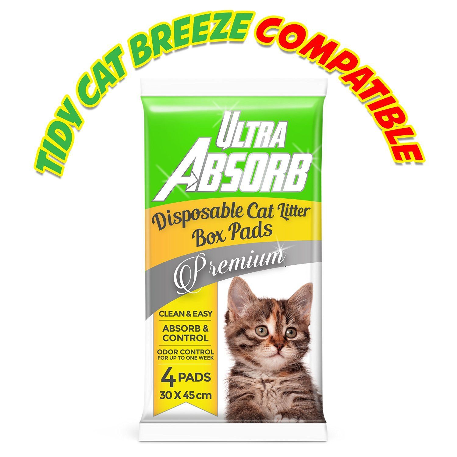 AllAbsorb Cat Litter Pads Compatible with Tidy Cats
