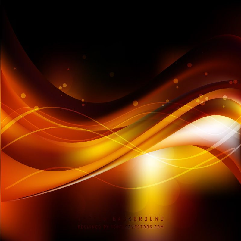 Black Orange Fire Wave Background Template In 2020