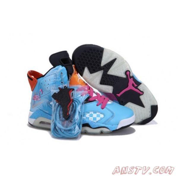 26861c69f08 Air Jordan Femme Nike Air Jordan 6 Femmes Noir Jade Rose