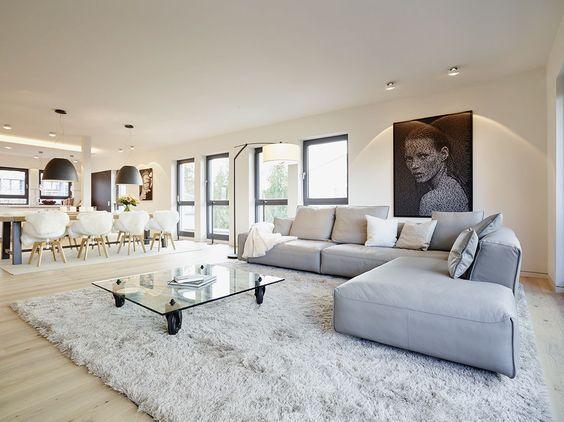 Wohnzimmer Innenarchitektur ~ Wohnzimmer in luxus penthouse honey and spice innenarchitektur