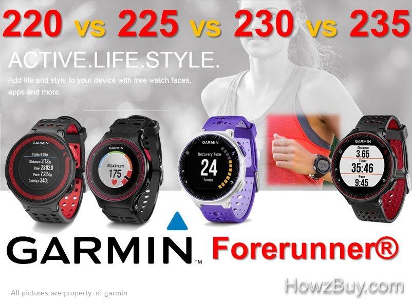 Garmin Forerunner 220 Vs 225 Vs 230 Vs 235 Watch Comparison For
