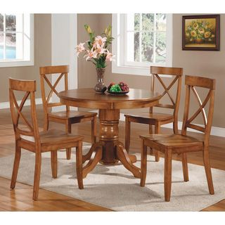Overstock - Cottage Oak 5-piece Dining Furniture Set - With this ...