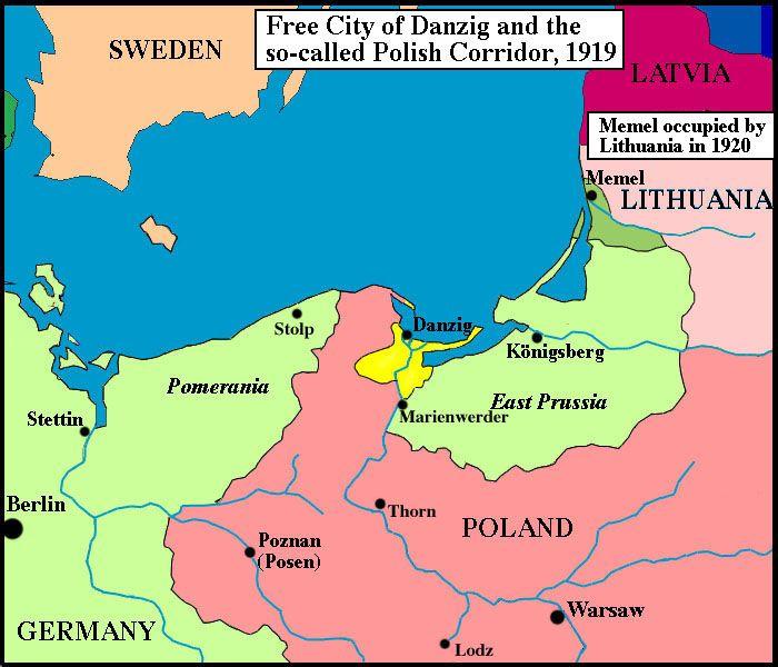 Free City of Danzig (Polish Corridor) | junk | Danzig, Map, History