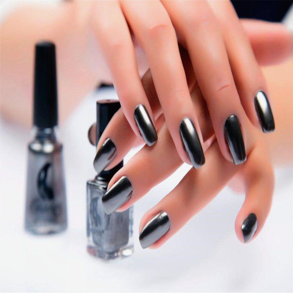 Cool metallic mirror nail polish photo summer nail designs for
