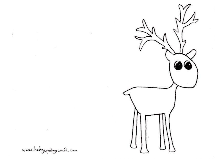 Pompom reindeer Christmas cards (free printable) Christmas cards - printable christmas card templates