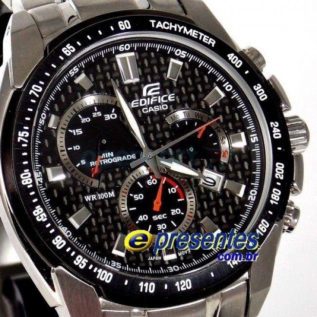 a1eaca06e59 EF-521SP-1AVDF Relógio de Pulso Casio Edifice CRONÓGRAFO AÇO ...