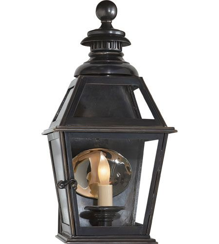 Visual Comfort E.F. Chapman Chelsea 1 Light Outdoor Wall Lantern in Bronze with Wax CHO2109BZ #visualcomfort #lightingnewyork #lighting