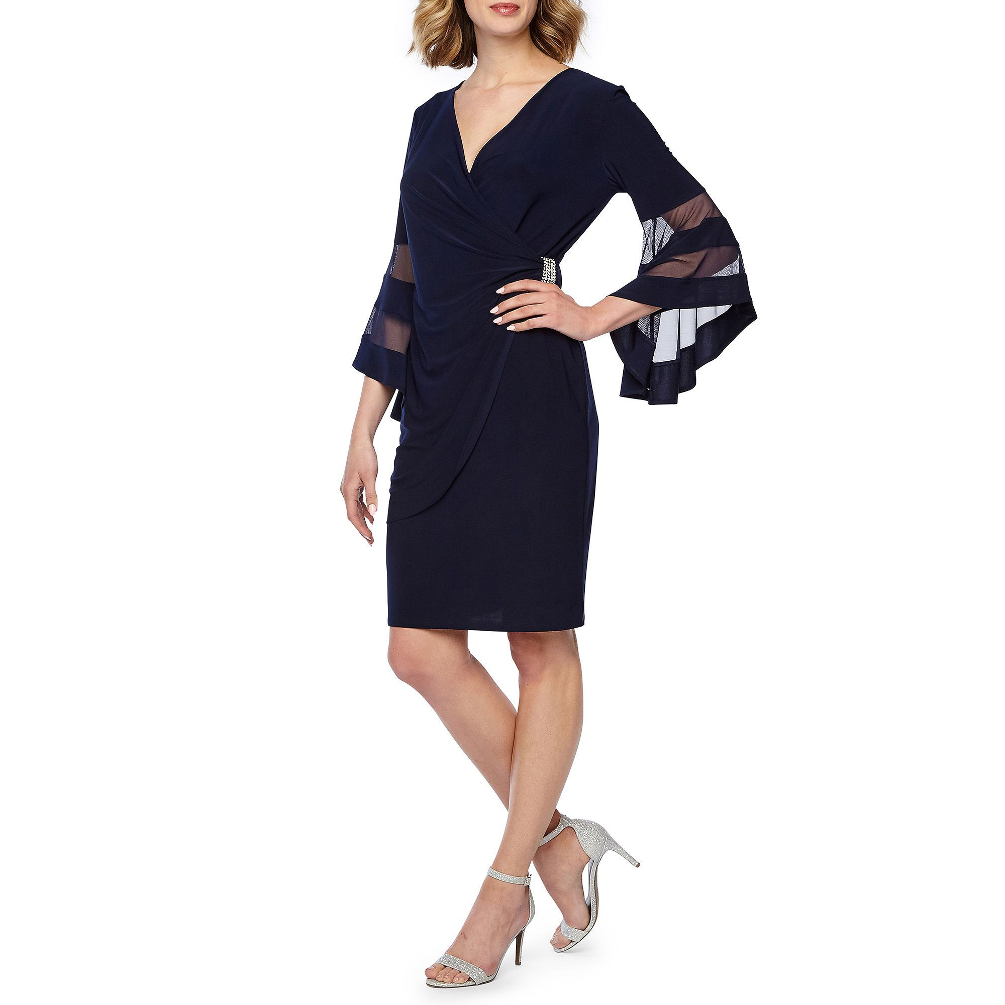 R M Richards 3 4 Bell Sleeve Fit Flare Dress Jcpenney Fit Flare Dress Flare Dress Bell Sleeves [ 2000 x 2000 Pixel ]