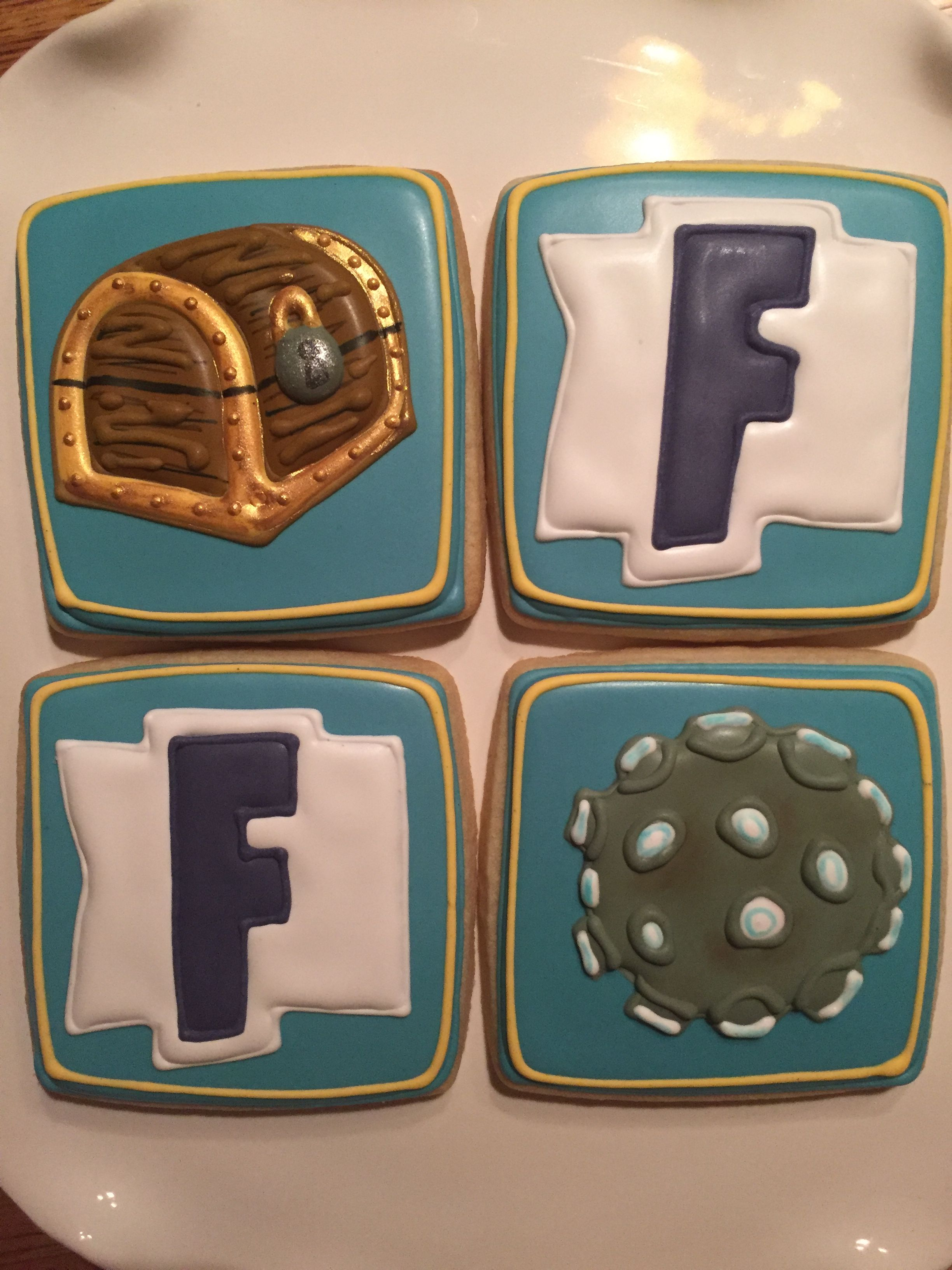 Fortnite theme cookies! | Mary's Cookie Art in 2019