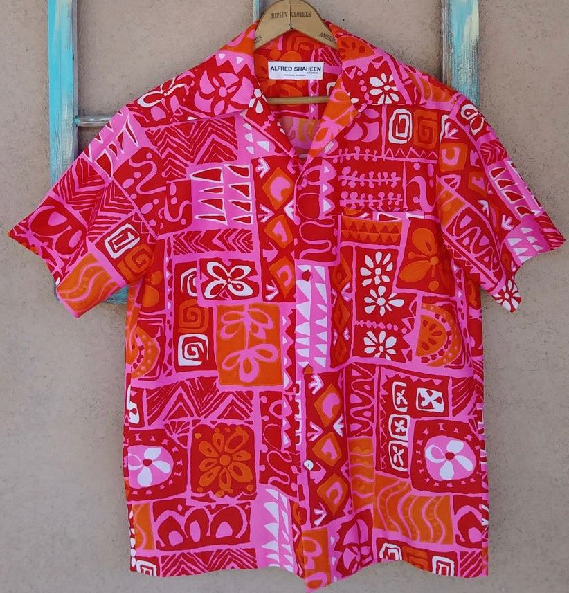 Alfred Shaheen Polyester Hawaiian Shirt Dress Vintage Hawaiian Shirts Hawaiian Outfit