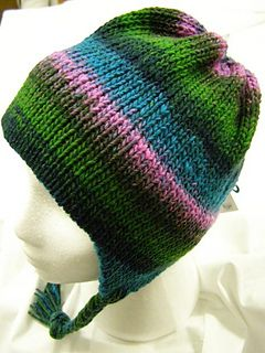 This is an easy earflap hat to make on your chunky ...