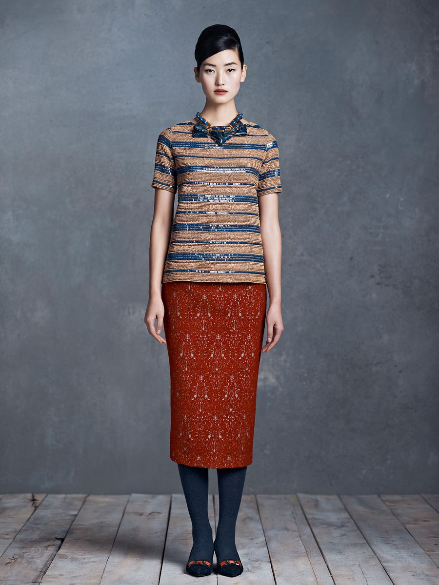 I'm kind of in love with this color palette. Again with the styling! Tory Burch Pre-Fall 2013