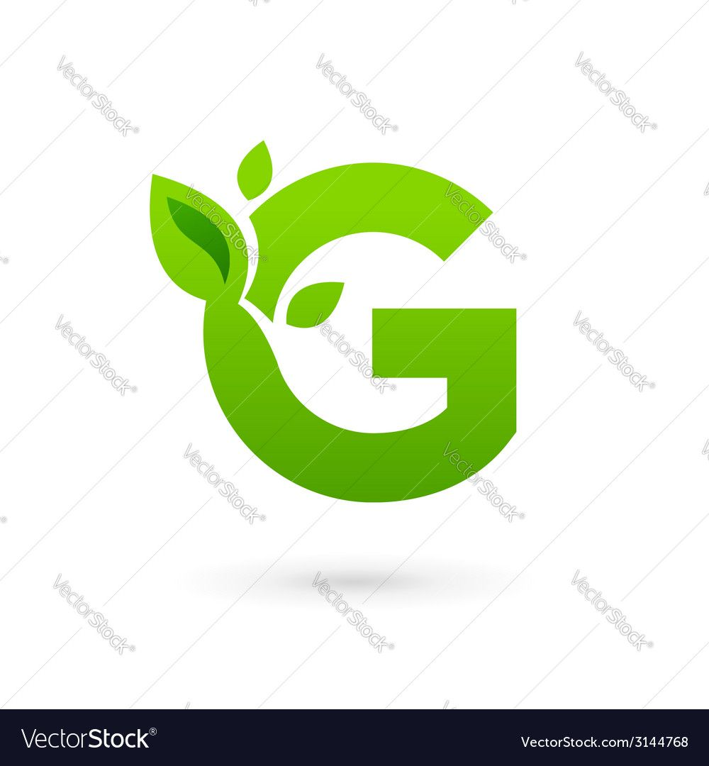 Letter G eco leaves logo icon design template vector image