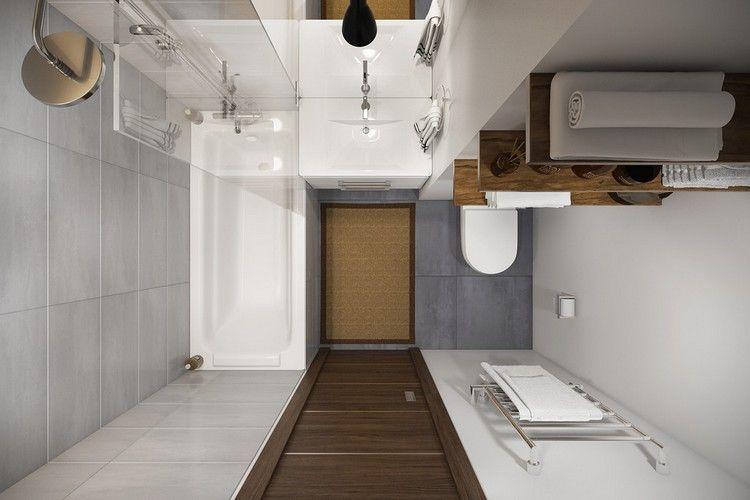 Badezimmergestaltung-kleines-bad-graue-fliesen-badewanne-glas