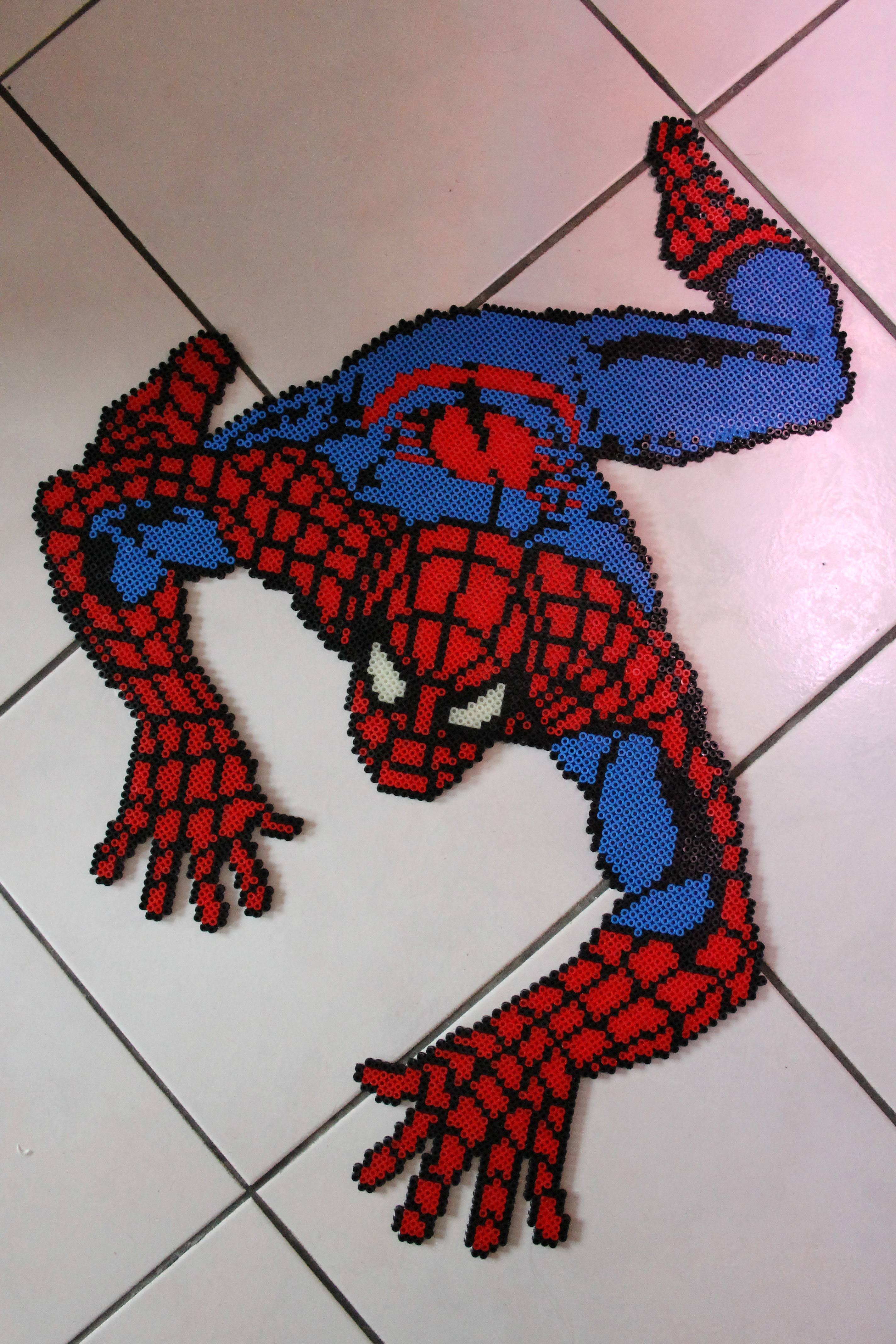 Spiderman Hama Perler Beads By Malue Lindgreen Perler Bead