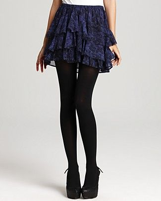Cute skirt to go with black tights and booties.