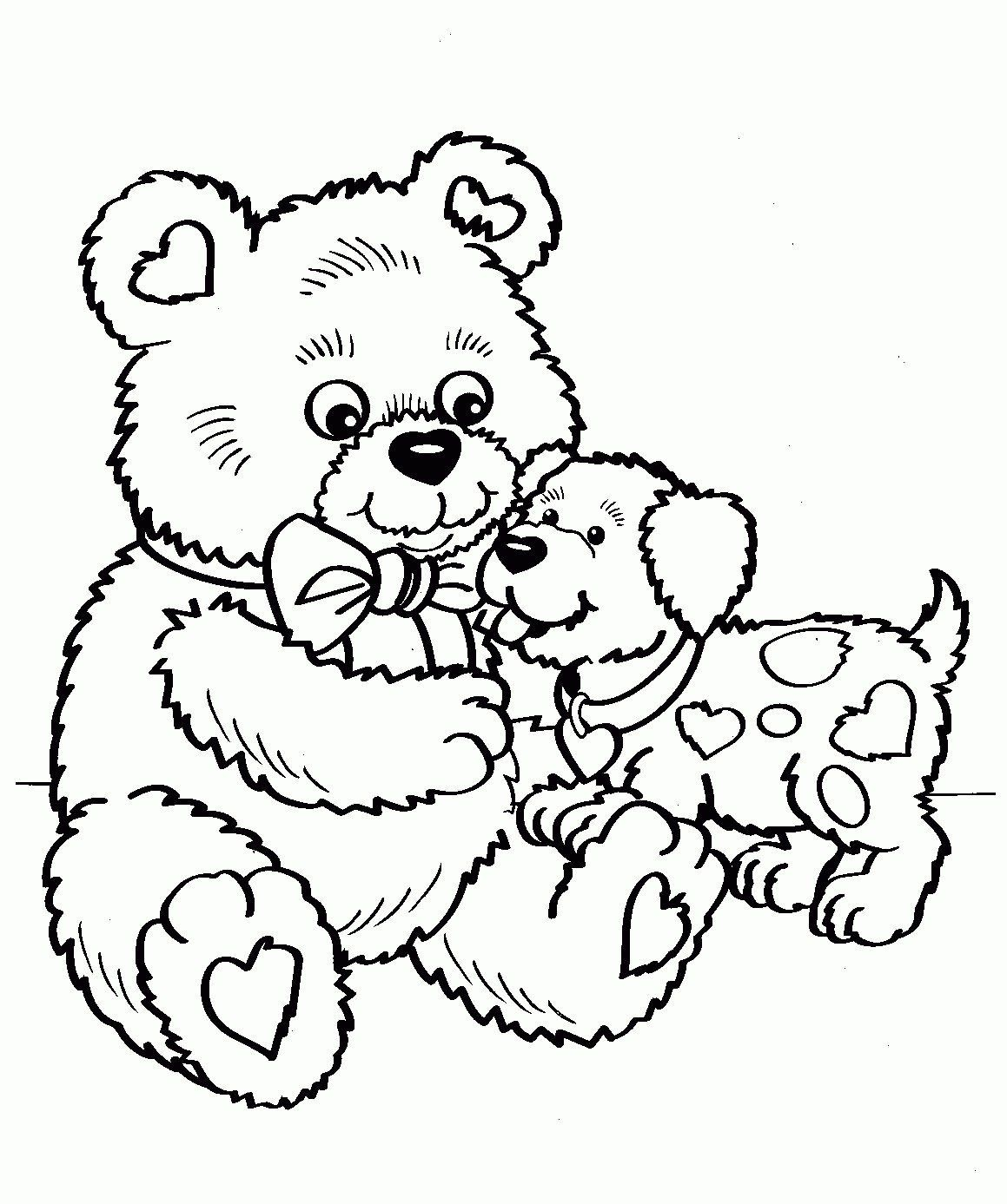 Teddy Bear Coloring Pages Lovely Lovely Teddy Bear with